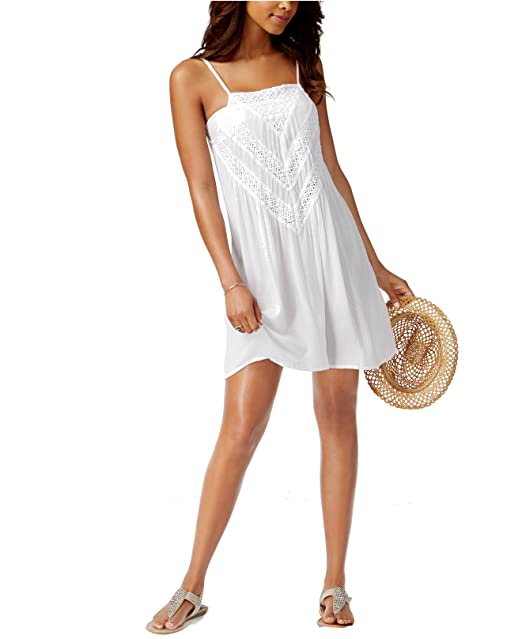 a837065afa Raviya Women's Crochet-Inset Swimsuit Cover-up at Amazon Women's Clothing  store: