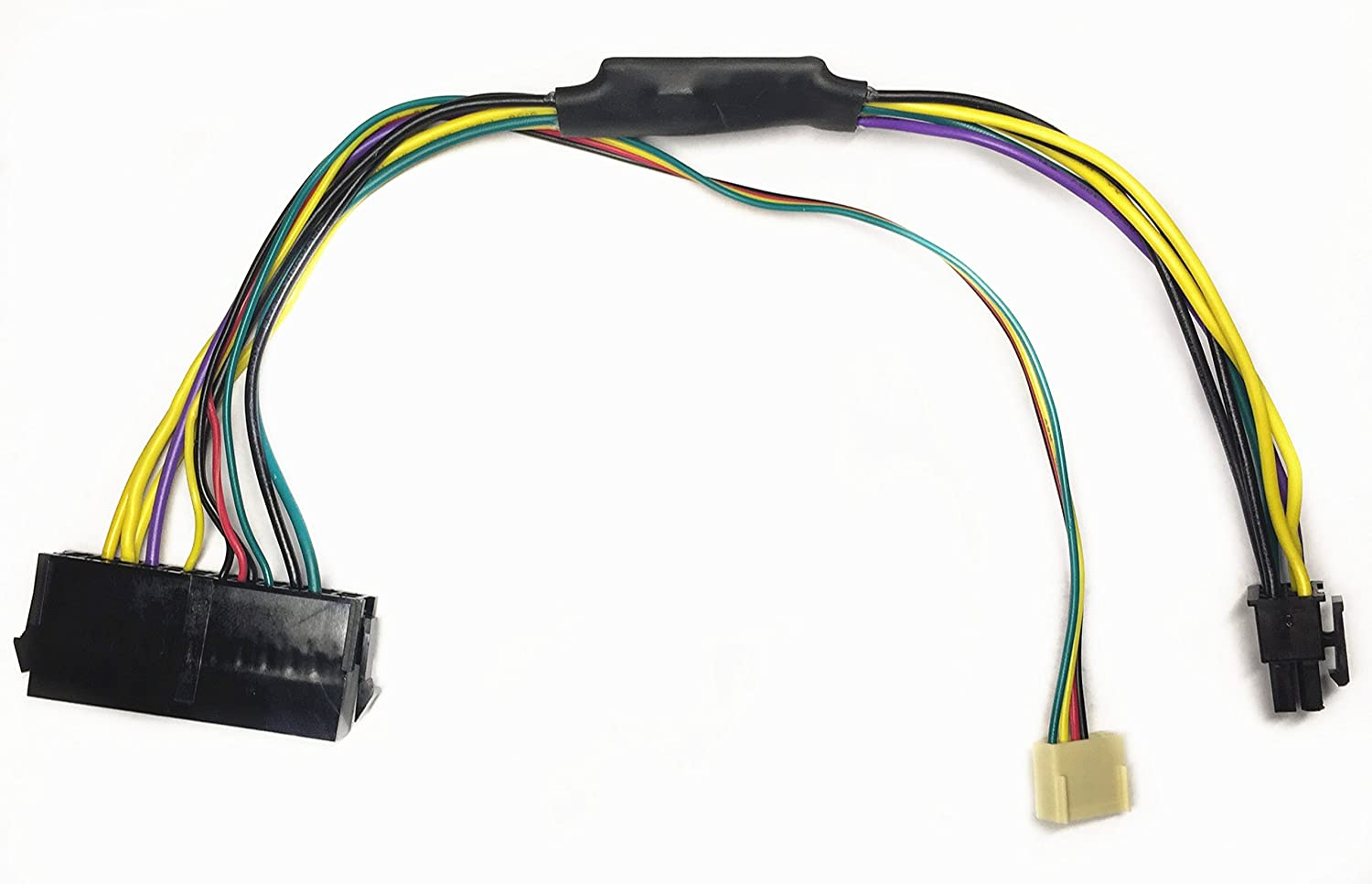 EZSync ATX PSU (24-Pin) to HP Motherboard (6-Pin PCI-E, 2 Ports) Power Adapter Cable for HP Z220/Z230 Workstation, 11 inches and 18 AWG, EZSync910 Purenitetech
