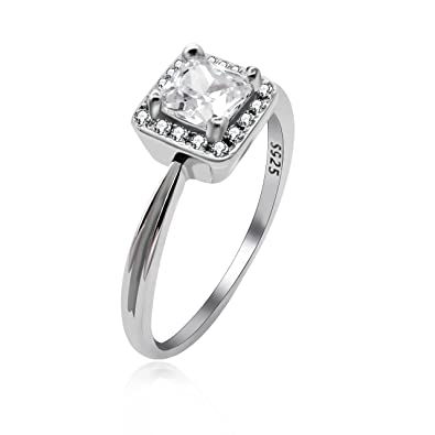 7aad6fc8a583d Uloveido Bridal Engagement and Wedding Promise Ring for Girls 925 ...
