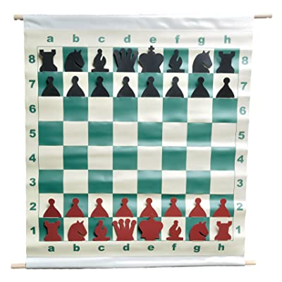 "The House of Staunton 28"" Slotted-Style Vinyl Demo Chess Set with Deluxe Carrying Bag: Toys & Games"