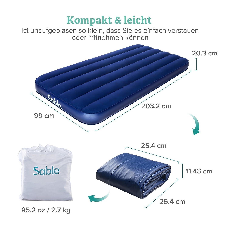 Sport Neuwertig,original Verpackt Gästebett Und Elektronische Pumpe Aufblasbar