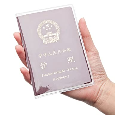b0ea1f1eda66 Honbay 10PCS Passport Cover Clear Plastic ID Card Protector Case ...