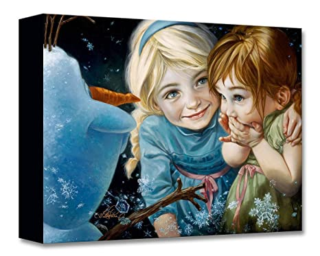 Amazoncom Disney Fine Art Never Let It Go By Heather Theurer