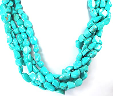 199 Turquoise necklace is 18 inches long and has 8 mm beads with a pendant of turquoise