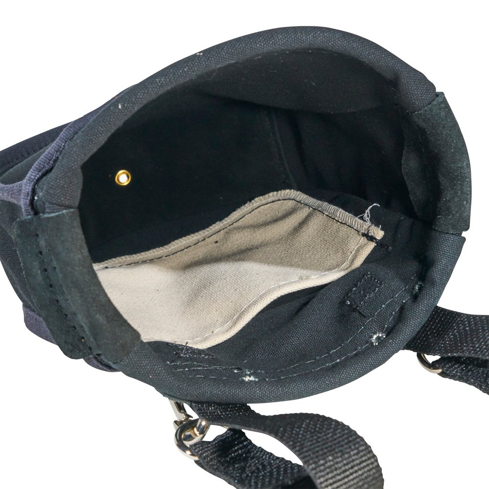Utility Pouch Perfect for Carrying Nuts and Bolts, with Interior Pocket, Black No. 10 Canvas Klein Tools 51A by Klein Tools