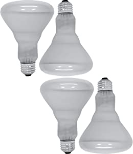 GE Lighting 65 Watt 580 Lumens Soft White Reflector Floodlight BR30 Light Bulb (4 Bulbs)