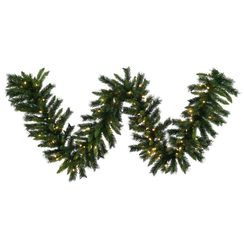 Vickerman 50' x 16'' Imperial Pine Garland with 400 Warm White LED Lights