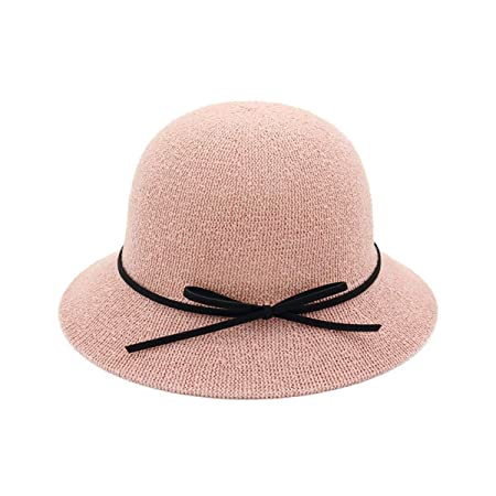 a92a31016ab Ladies Fisherman Hats Outdoor Sun Hat Dome Small Hat (Color   Pink ...