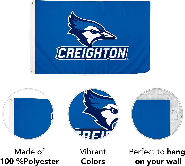 Desert Cactus Creighton University NCAA 100/% Polyester Indoor Outdoor 3 feet x 5 feet Flag
