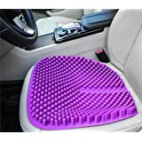 Hylaea Purple Gel Car Seat Cushion Pad for Office Chair Truck Auto Driver with Anti Slip Breathable Cool 18 by 18 inch