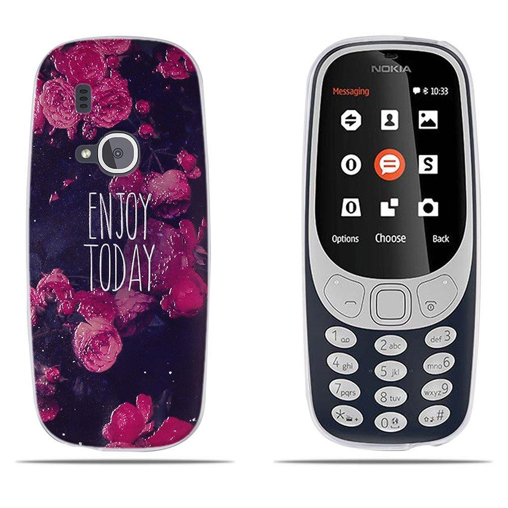 9daebaea8 DIKAS Funda Nokia 3310 (2017), Transparente Suave TPU Gel [Ultra Fina]