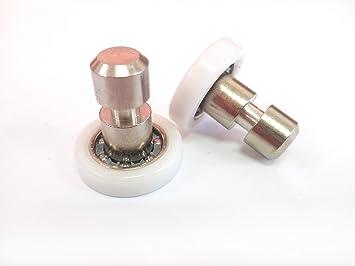 Repuesto de rodamientos para mampara de ducha para puertas correderas, kit de 2 piezas, modelo 19 cl, tenedor: Amazon.es: Bricolaje y herramientas