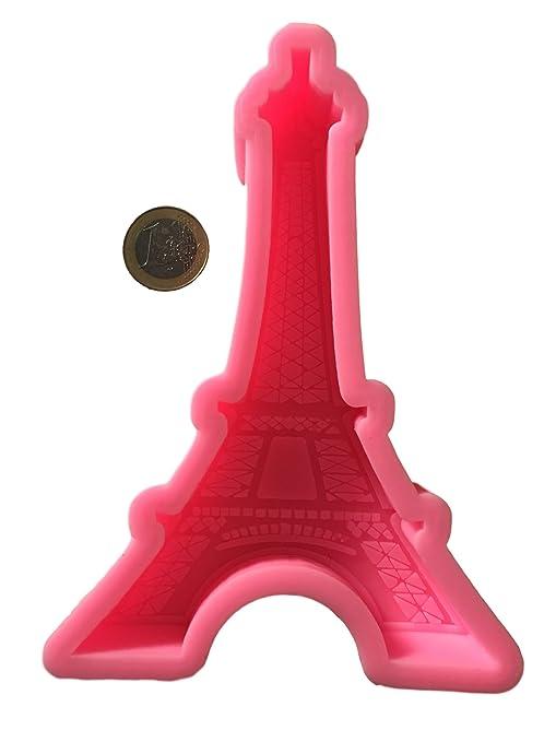 Torre Eiffel Francia tartas pasteles fondant molde de silicona chocolate – Molde Cubitos de hielo forma
