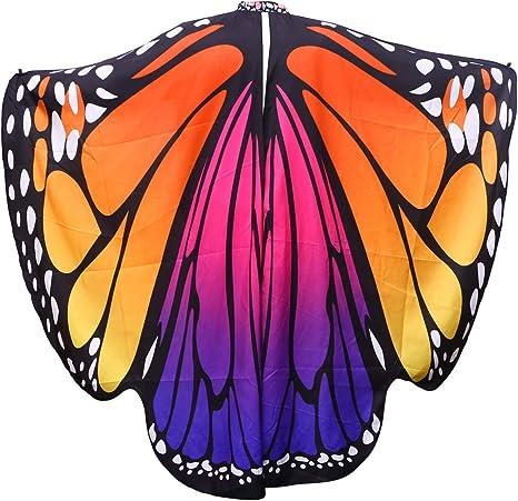 Mujeres Poliéster Slinga de la mariposa Animales Alas Alas ...