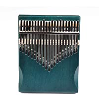 Kalimba - Piano de pulgar con 21 teclas con madera de caoba, piano portátil de dedo mbira, fácil de aprender…
