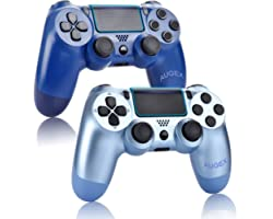 AUGEX 2 Pack Game Controllers Compatible for PS4,Wireless Controller Work with Playstation 4 Console;AUGEX Remote Control wit