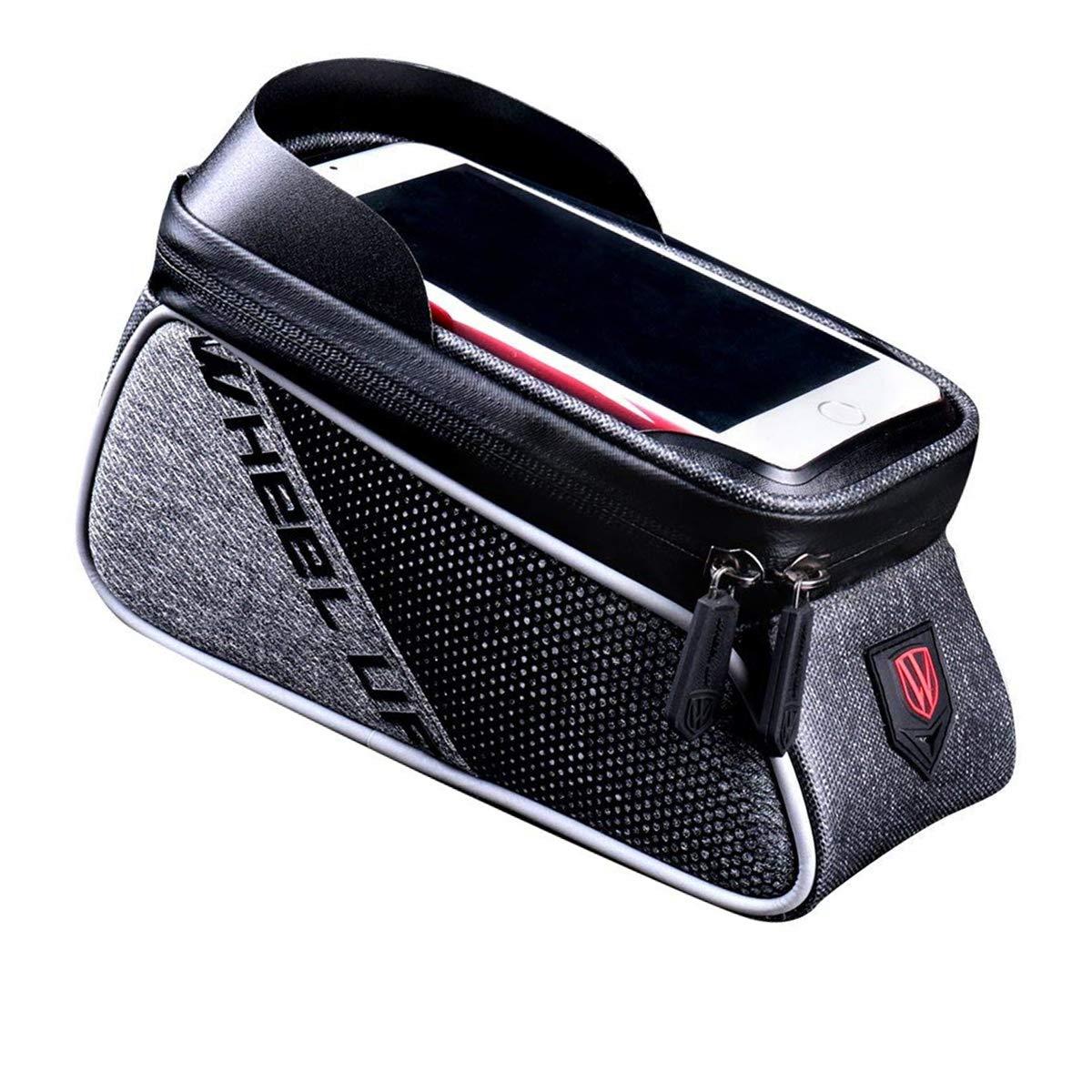 【おしゃれ】 VFun VFun バイクフレームバッグ ブラック サイクリング フロントチューブ ハンドルバーバッグ B07HMR16JG 防水 6.0インチ タッチスクリーン 携帯電話ケース 自転車ハンドルバーバッグ バイクパックアクセサリー ブラック B07HMR16JG, プリザーブドフラワーIPFA:b0cb4dfd --- arianechie.dominiotemporario.com
