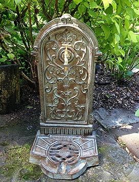 Antikas - fuente para jardín estilo casa de campo fuentes antiguas - fuente decorativa con grifo
