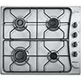 Candy PL 40 ASX built-in Gas Stainless steel - Hobs (Built-in, Gas, Stainless steel, 1000 W, 1700 W, 2700 W)