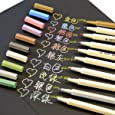 MagicW Waterproof Metallic Marker Pens Metallic Colored Pencils Highlighters Paint Marker for DIY Arts Crafts Album Photo 10Pack