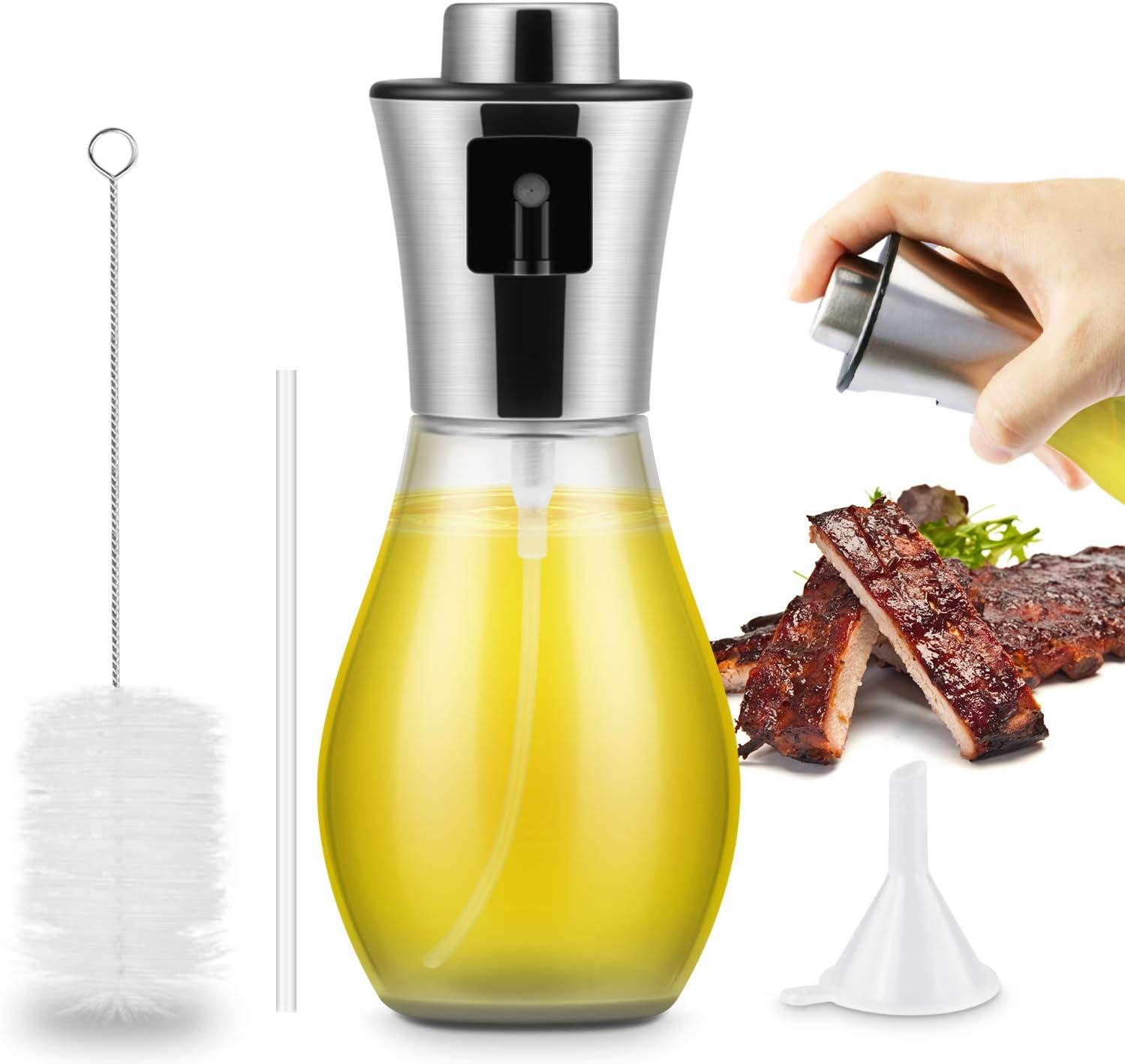 Pulverizador Pulverizador Spray Oliva Aceite, 200 ml Pulverizador Aceite Botella de Vidrio de Aceite\Vinagre