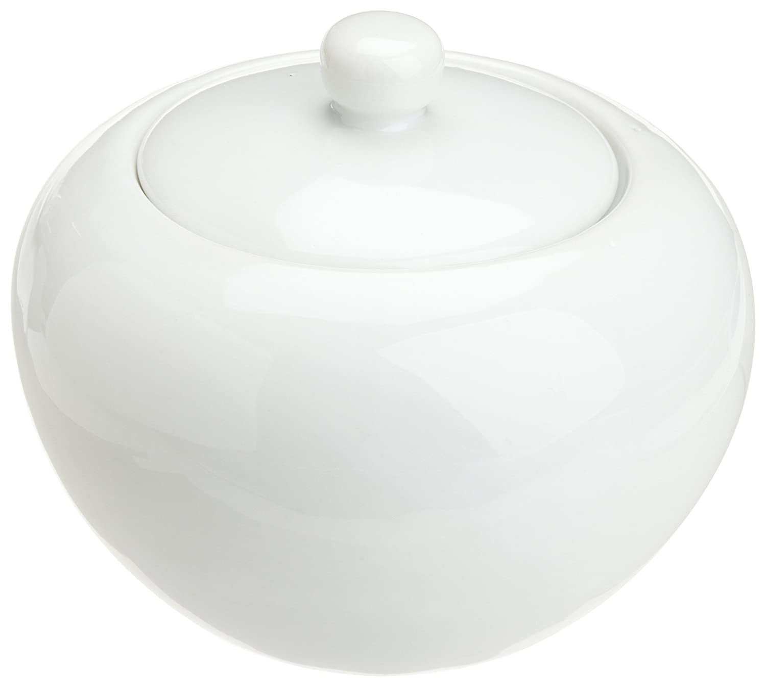Honey-Can-Do 8128 Porcelain Sugar Bowl, White, 3-Inches x 4.25-Inches W Kitchen Supply