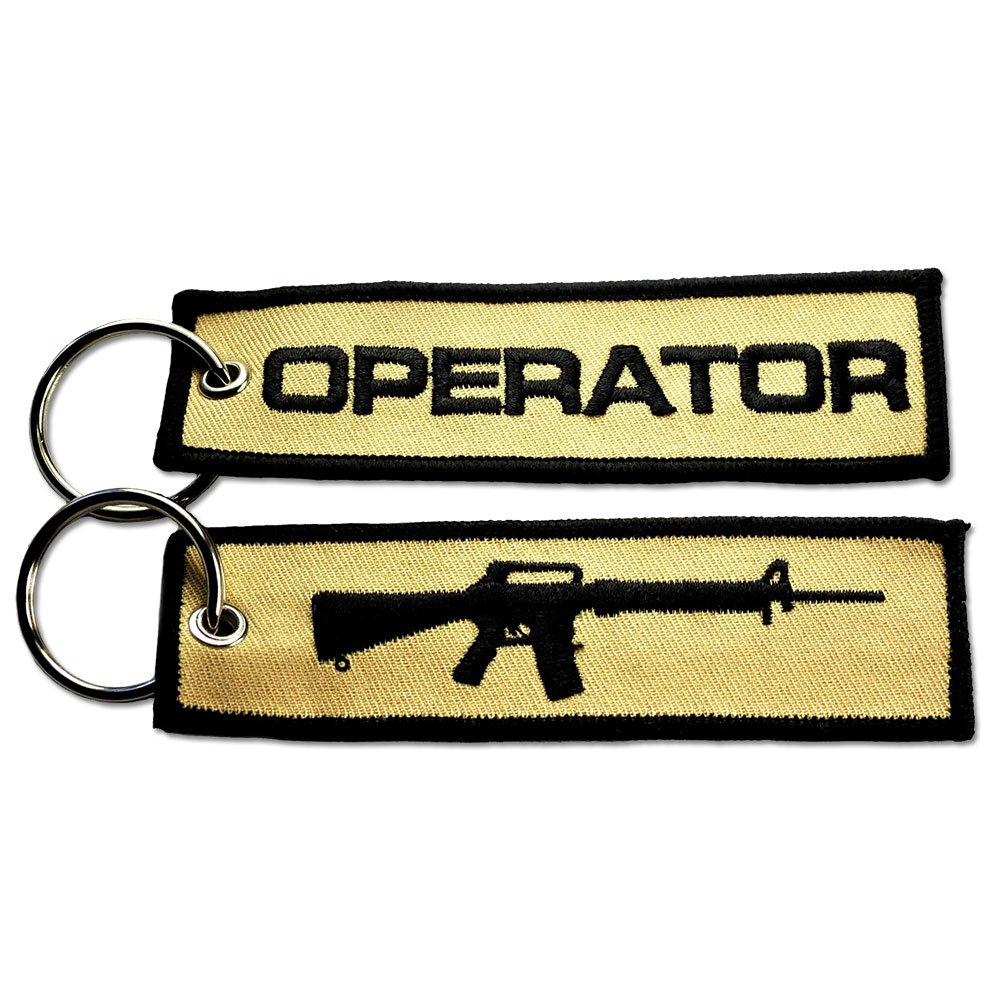 BASTION MOLON LABE COME AND TAKE IT NEW TACTICAL EMBROIDERED KEY CHAIN KEY TAG BLK