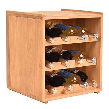 12 Böden Schrank Display 3 Etagen Küche Holz Flasche Weinregal 8nvwOm0N