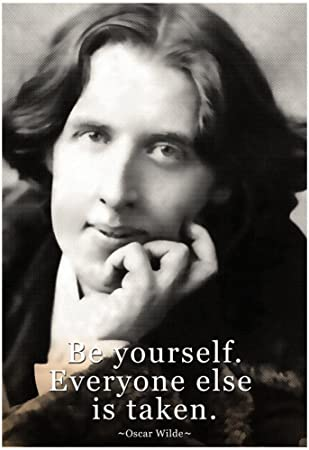 Amazon.com: Oscar Wilde Be Yourself Quote Poster 13 x 19in with ...