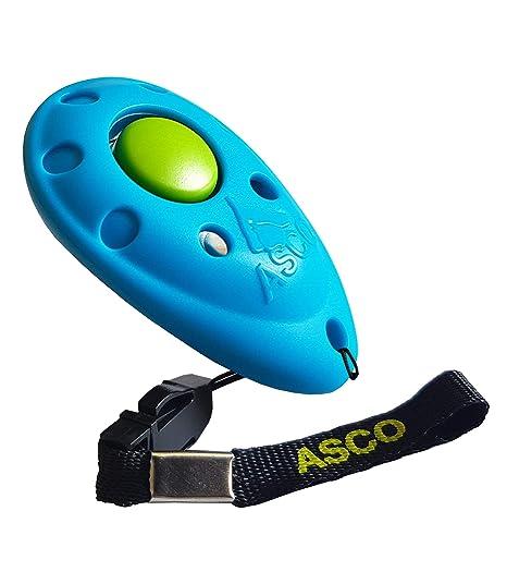 ASCO Premium Clicker para Clicker Training, Perros Gatos Caballos Profesional de Clicker, Entrenamiento Perros