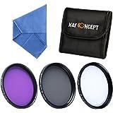 K&F Concept 37mm 3 piezas UV+CPL+FLD Filtro Kit de Accesorios de Lente UV Polarizador Circular Filtro para Olympus PL1 E PL2 E PL3 14-42mm + Paño de Limpieza de Micofibra