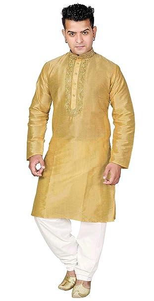 18641cb4ec Desi Sarees Mens Kurta Pyjama Shalwar Kameez Party Wear 1845 (Chest – 36  inches,