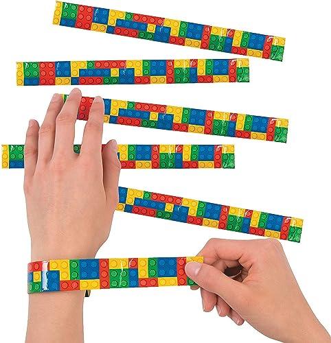 Fun Express Color Brick Party Slap Bracelet