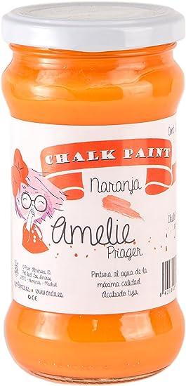 Amelie Prager 280 50 Pintura A La Tiza Naranja 280 Ml Amazon Es Bricolaje Y Herramientas
