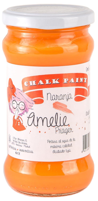 Amelie Prager 280-50 Pintura a la Tiza, Naranja, 280 ml