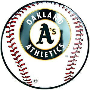 RUU Oakland Athletics MLB Baseball Sports Embossed Home Decor Vintage Aluminum s Tin Plaque Wall Art Poster for Garage Man Cave Beer Cafe Bar Pub Club Patio 12