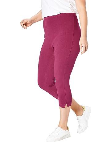 c378ad2173cd8 Woman Within Women's Plus Size Petite Stretch Cotton Capri Legging