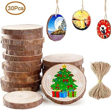 NEU Weihnachtsdekoration Holzaufhänger Tischdekoration
