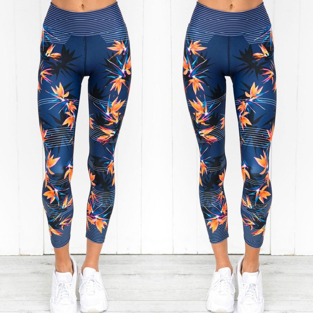 QUICKLYLY Yoga Mallas Leggins Pantalones Mujer,Mujeres Cintura Alta Deportes Gimnasio Yoga Correr Fitness Leggings Pantalones Pantalones Deportivos
