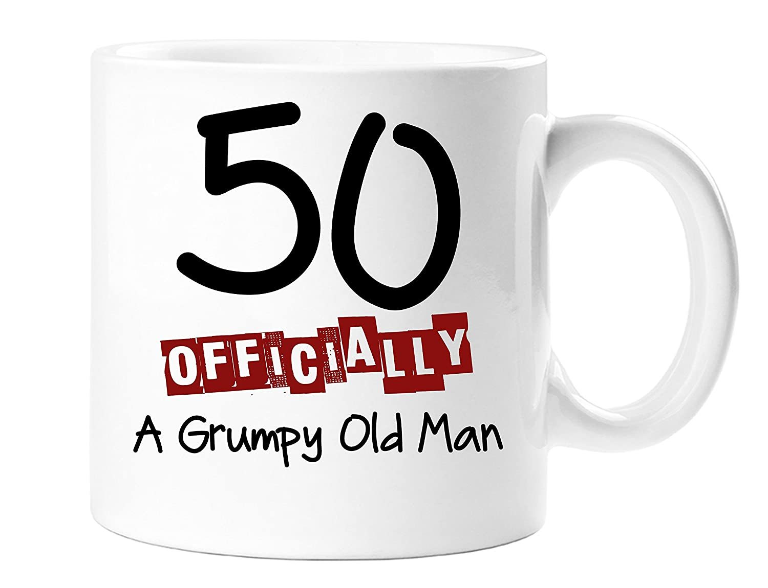 50 Officially A Grumpy Old Man - Funny Novelty 50th Birthday Gift Mug Top Sale