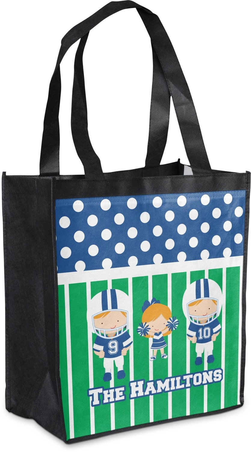 Football Grocery Bag ( Personalized ) B07652FQ1Z