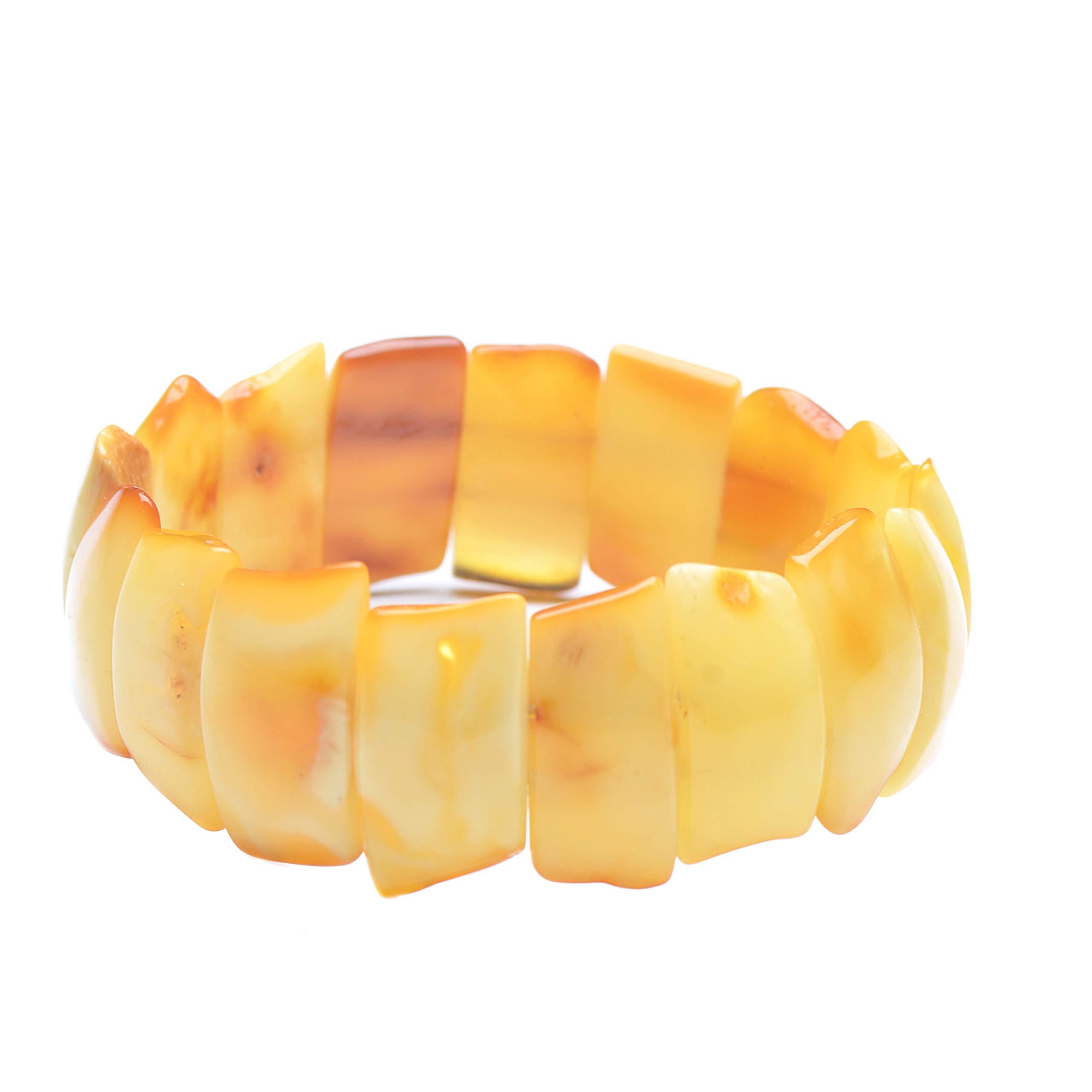 Butterscotch Amber Bracelet - Unique Baltic Amber Bracelet - Elegant Amber Bracelet - Amber Bracelet by Genuine Amber