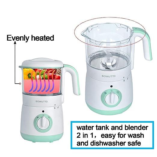 Amazon.com: Bowutt 4 en 1 bebé comida Maker Babycook vapor y ...