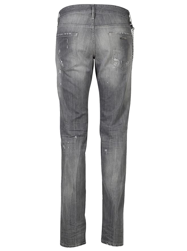 Dsquared2 Men's S74LB0311S30260852 Grey Cotton Jeans: Amazon.co.uk: Clothing