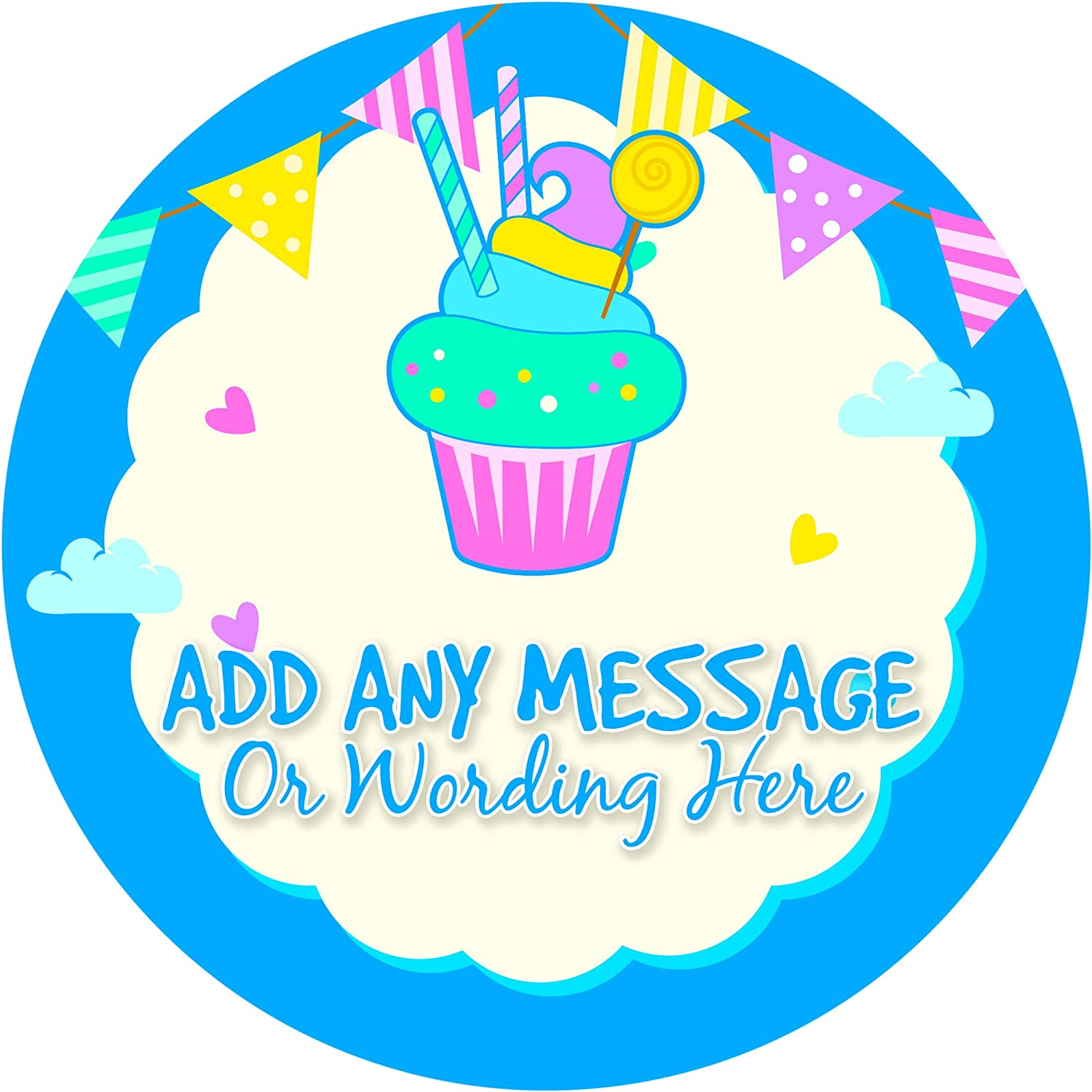 Happy birthday party sticker labels 24 stickers 1 8 inch each personalized seals ideal for party bags sweet cones favours jars presentations