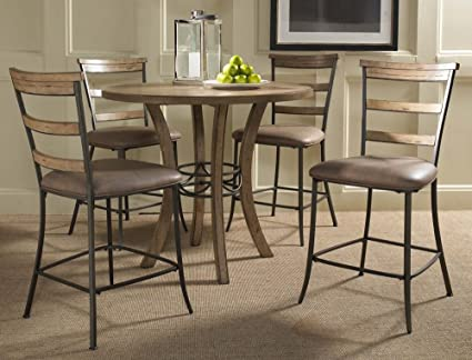 Hillsdale Furniture 5 Piece Counter Height Round Wood Dining Set