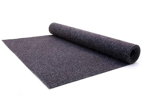 Teppichboden Schalld/ämmender Nadel-Vlies Bodenbelag Nadelfilz Meterware TURBO B1 Anthrazit Antistatische Zertifizierte Auslegeware 2,00m x 4,00m