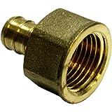 "1/2"" Pex Female Adapter NPT 1/2 inch Brass (pack of 3) Threaded Crimp Fitting (PEX-FA-12)"
