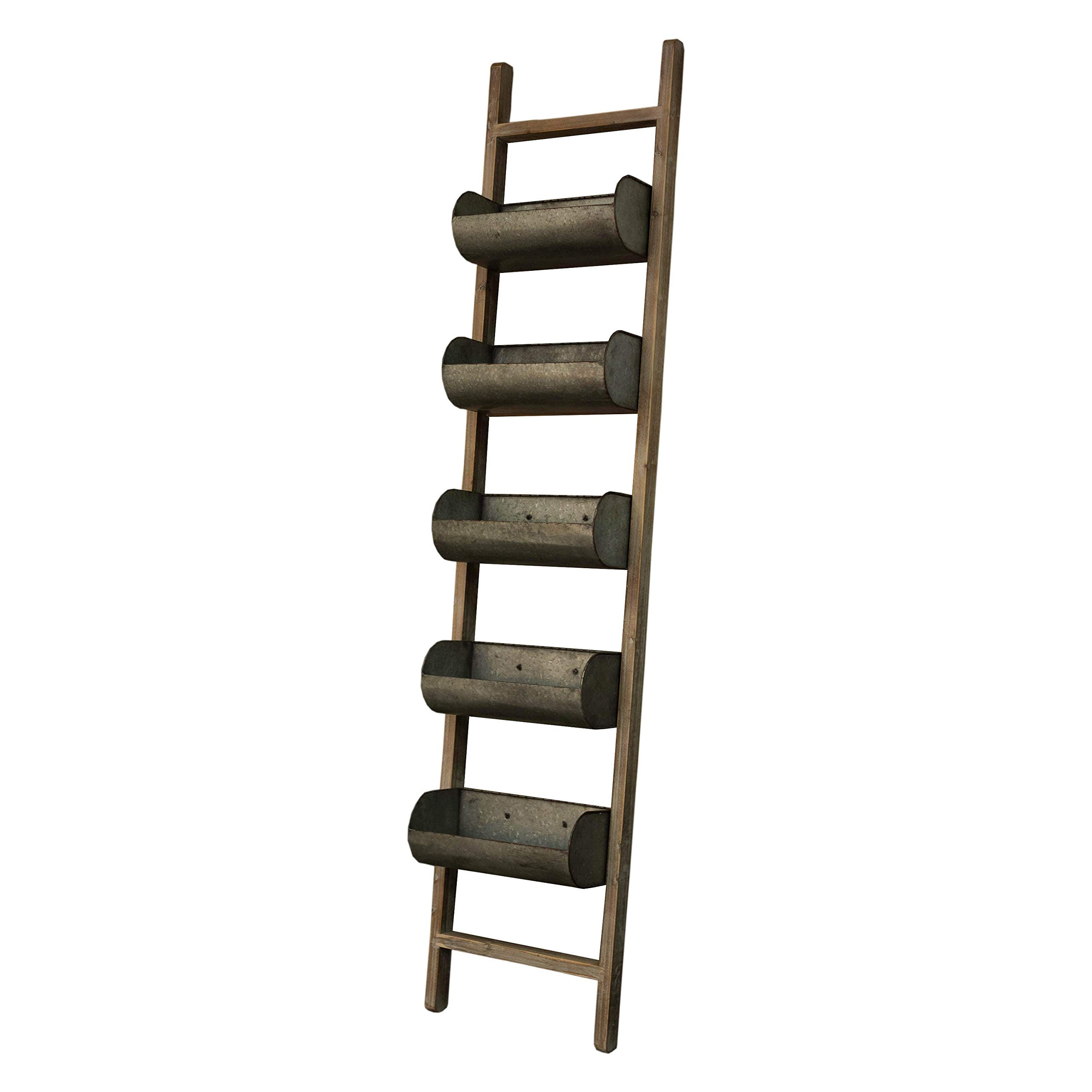 Vip International Multicolor Wood and Metal Ladder-design Wall Planter by Vip International