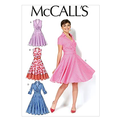ce1adc05493 McCall's Patterns MC7081 A5 - Cartamodello per Abiti da Donna ...